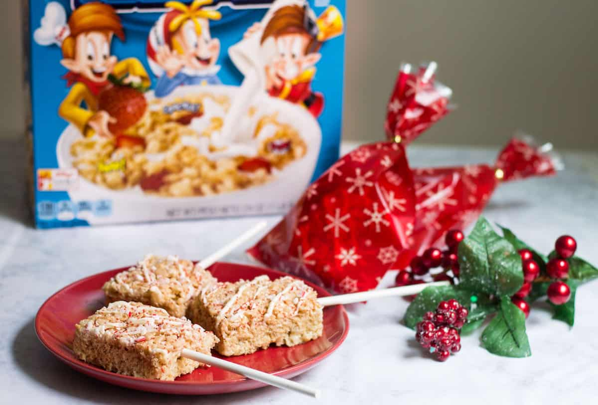 Rice Krispies Treat Pops In Holiday Goody Bags Mon Petit Four