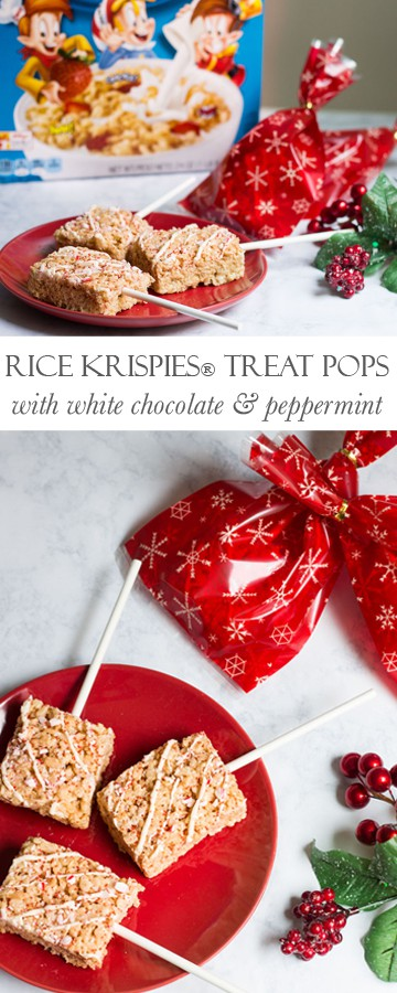 Rice Krispies® Treat Pops: the perfect holiday goody bag gift! Recipe via MonPetitFour.com