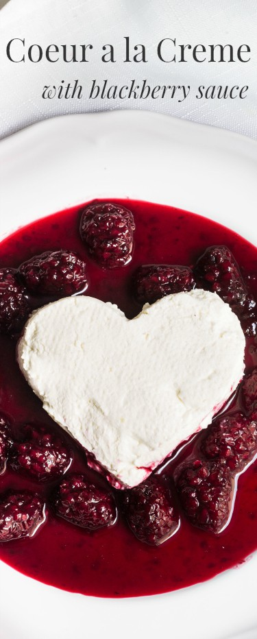 Coeur a la creme: A creamy, rich French dessert served with blackberry ...