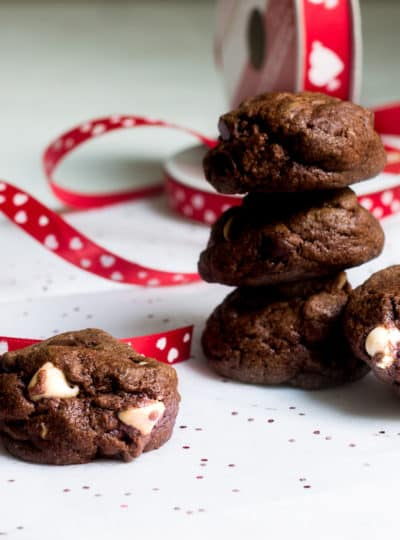 Double Chocolate Cookies for Valentine's Day