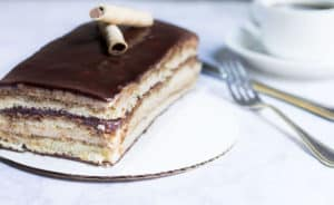 Opera Cake Made Easy! Create this beautiful and delicious coffee-flavored cake via MonPetitFour.com
