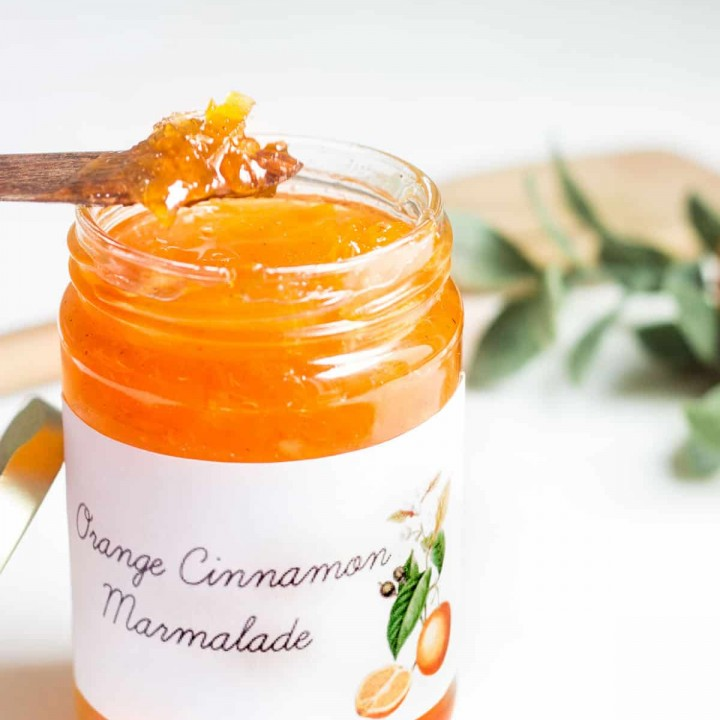 orange marmalade on a spoon image