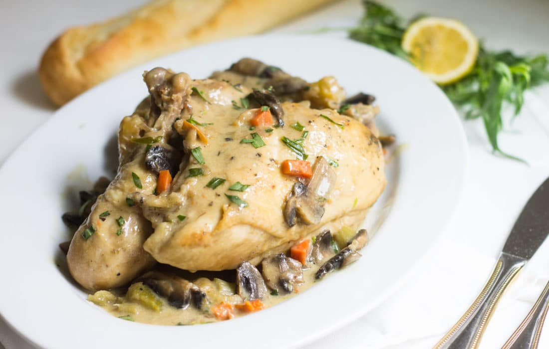 Chicken Fricassee (One-Pot Chicken with Tarragon Sauce)
