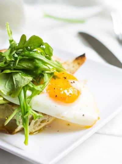 Egg Toast with Lemon, Avocado, and Arugula
