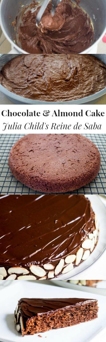 Reine de Saba (Julia Child's Chocolate and Almond Cake). Rich, simple, and perfectly chocolate-y! Recipe via MonPetitFour.com
