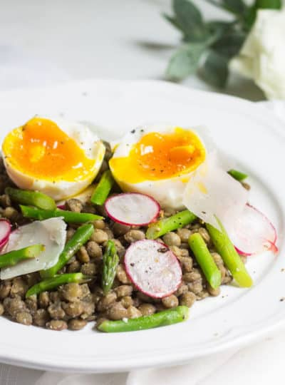 French Lentil Salad with A Soft-Boiled Egg