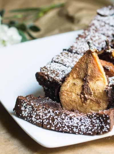 Chocolate Pear Cake (Gâteau poire chocolat)