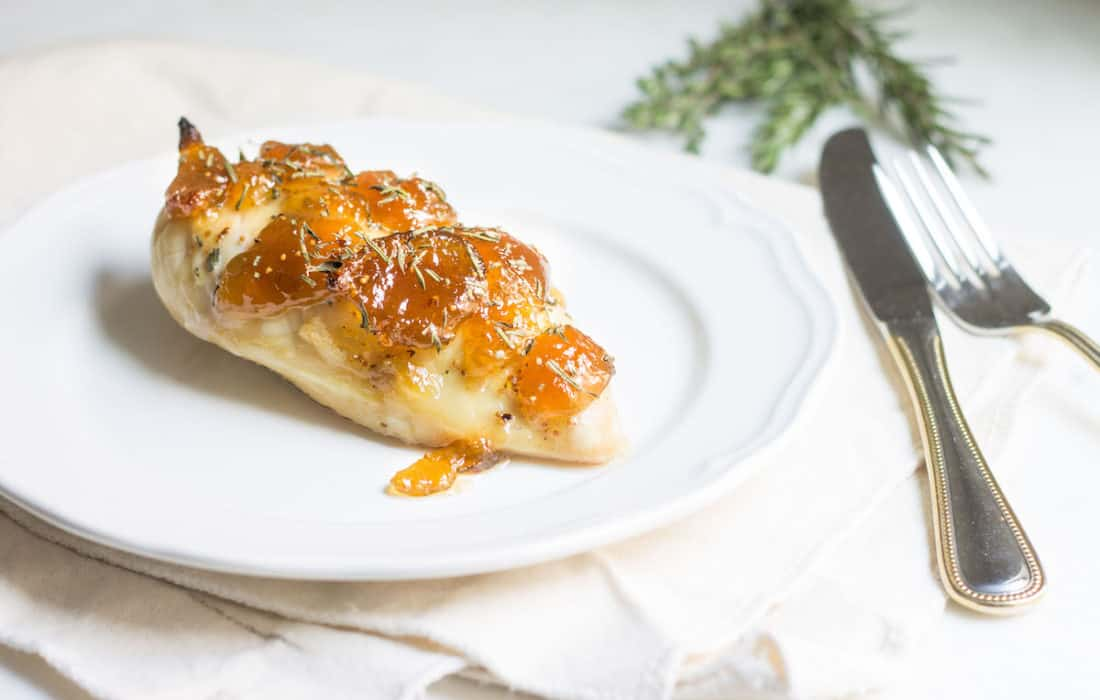 Easy Baked Chicken with Fig Preserves