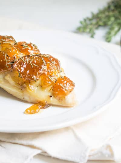 Easy Baked Chicken with Fig Preserves. A 30-minute dinner that's beautiful and delicious! Recipe via MonPetitFour.com