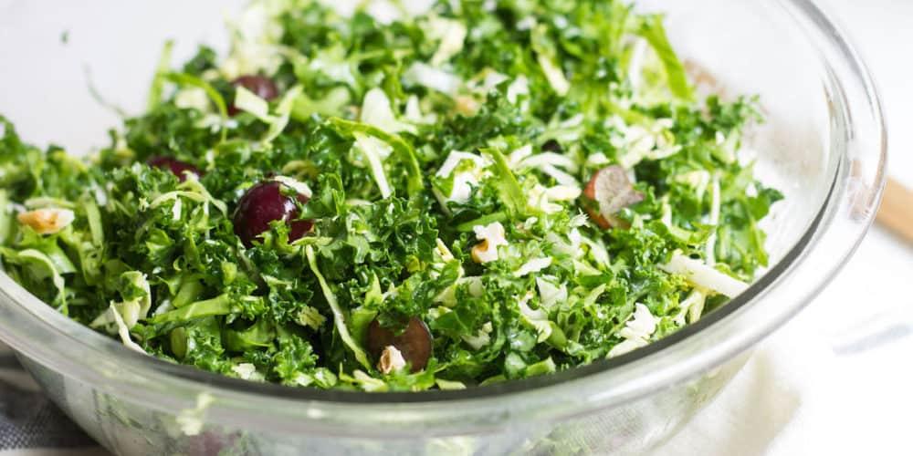 Kale Brussels Sprout Salad With Lemon-Olive Oil Dressing
