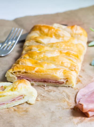 Ham and Cheese Pastry (Feuillete au jambon)