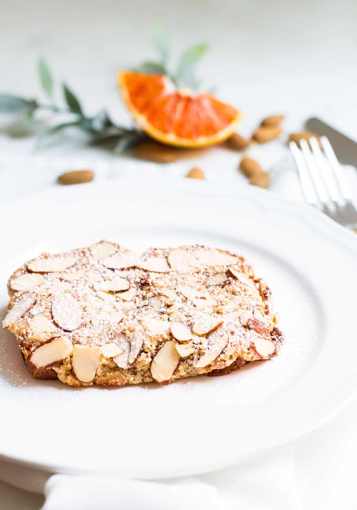 Bostock Pastry: baked brioche with almond cream. Perfect for breakfast or dessert; recipe via MonPetitFour.com