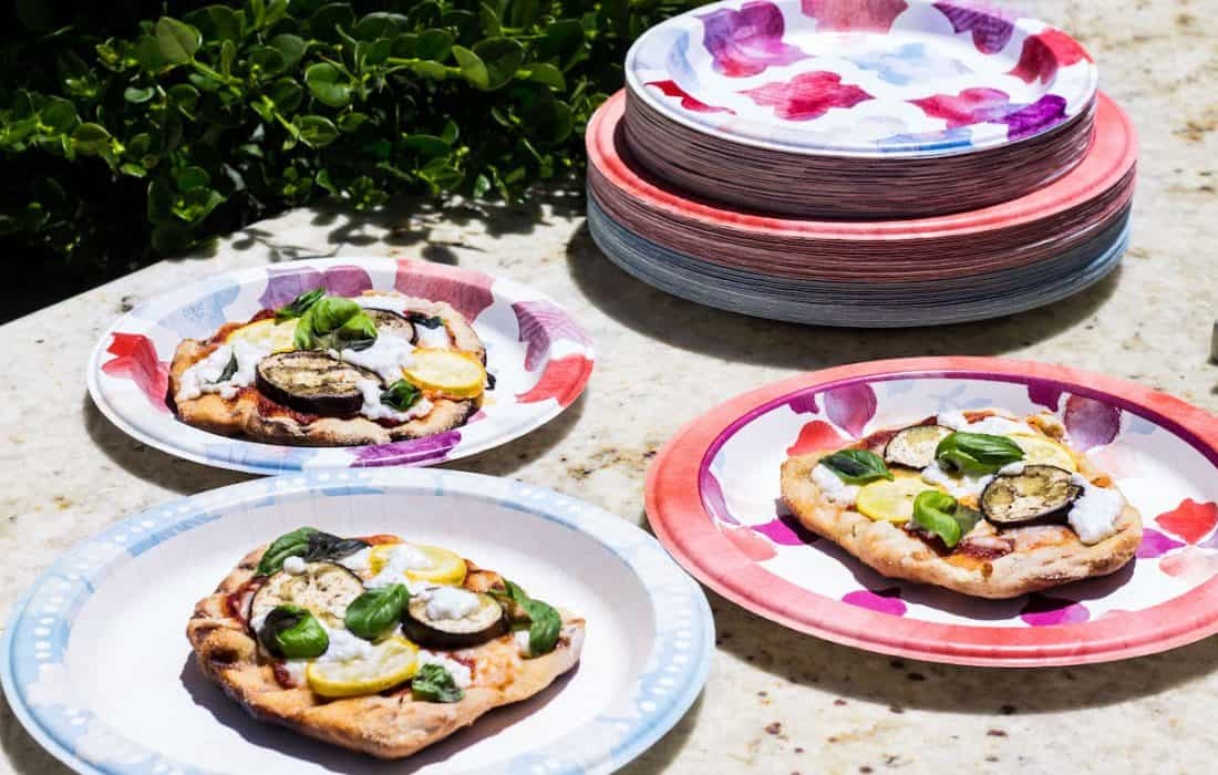 Grilled Pizza with Eggplant and Goat Cheese