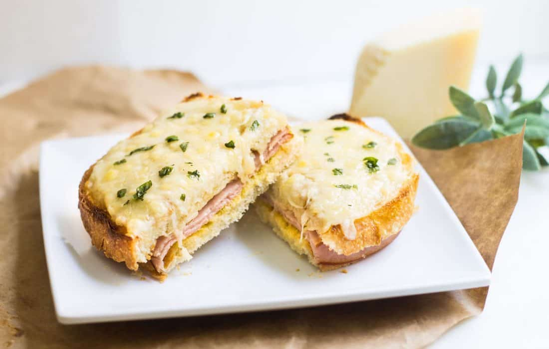 Croque Monsieur (French Ham and Grilled Cheese Sandwich)