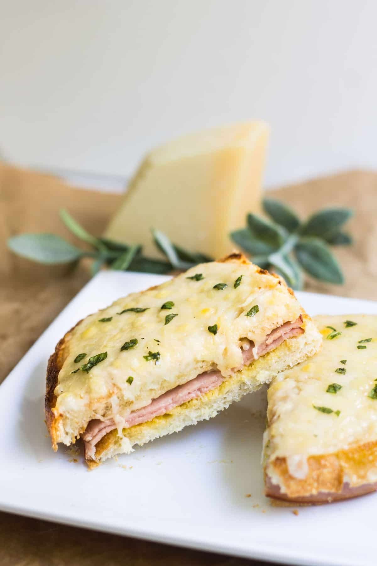 croque monsieur french ham and grilled cheese sandwich. Black Bedroom Furniture Sets. Home Design Ideas