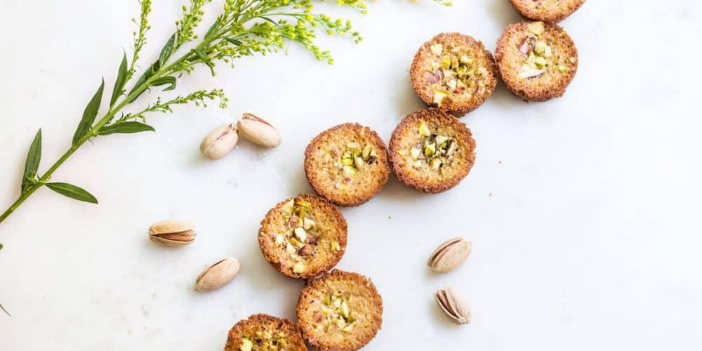 Pistachio Financiers (Pistachio Almond Cakes)