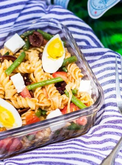 Nicoise Pasta Salad for a Summer Picnic