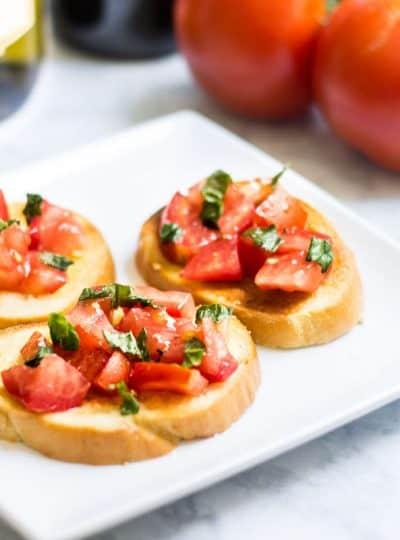 Tomato Crostini with Fresh Basil