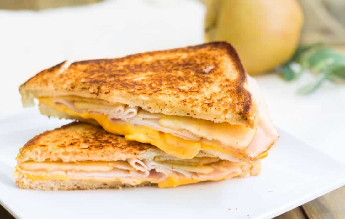 Turkey-Apple Grilled Cheese Sandwich