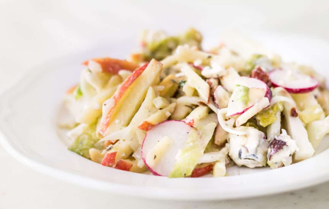 Apple Fennel Salad with Blue Cheese Vinaigrette