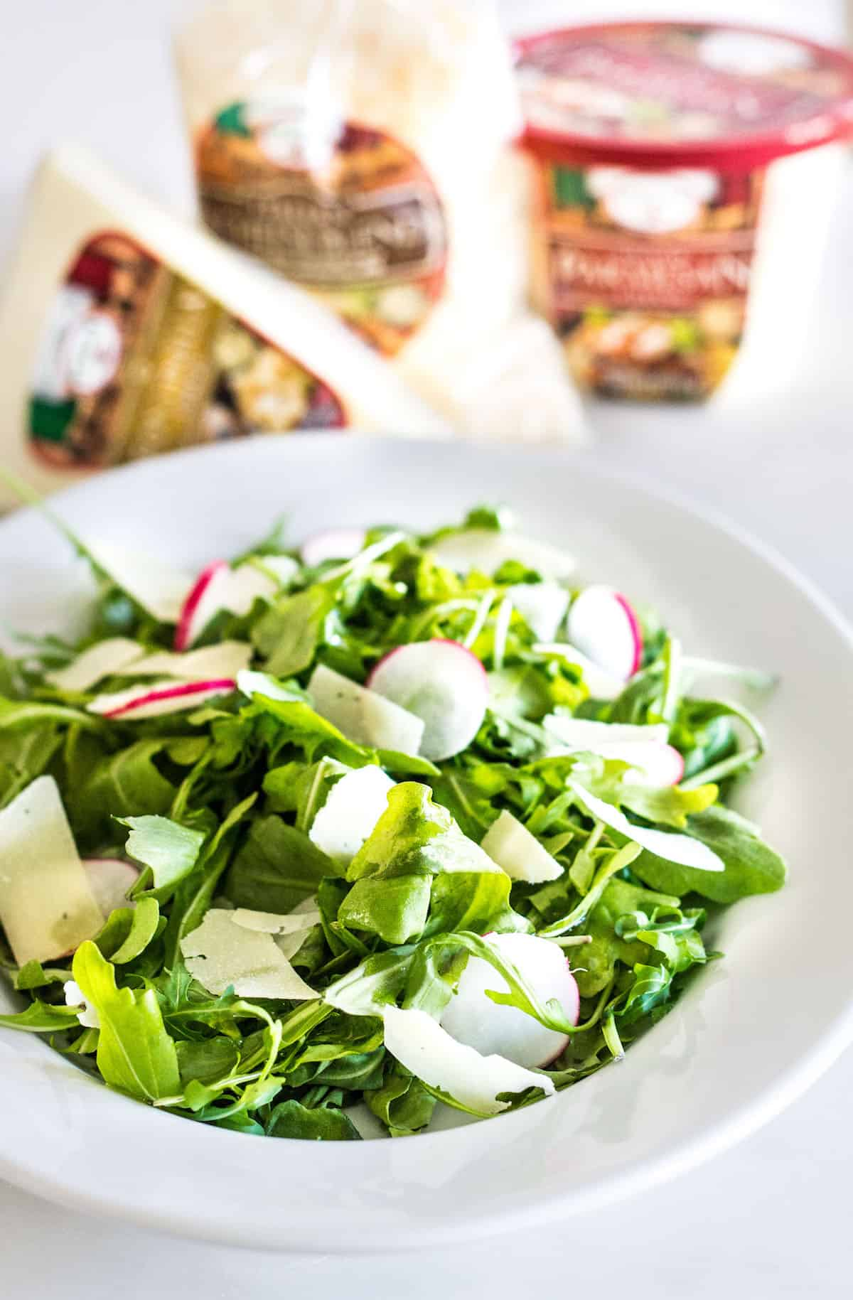 Arugula Salad with Parmesan - Mon Petit Four