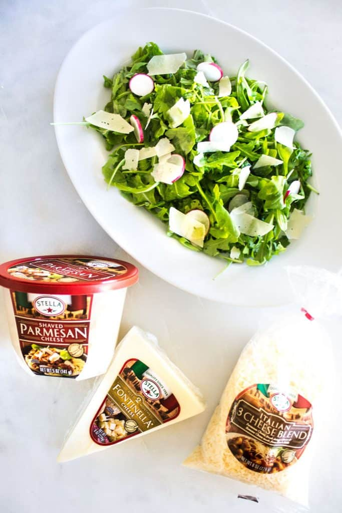 Arugula Salad with Parmesan: a quick and easy, go-to salad for everyday meals and entertaining. French recipe via MonPetitFour.com