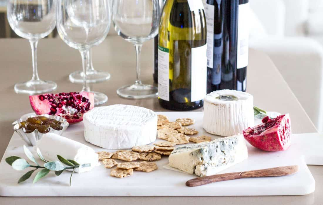 Cheese and Wine Pairings via MonPetitFour.com. Make a cheese board and pair them with tasty, affordable wines. #ad