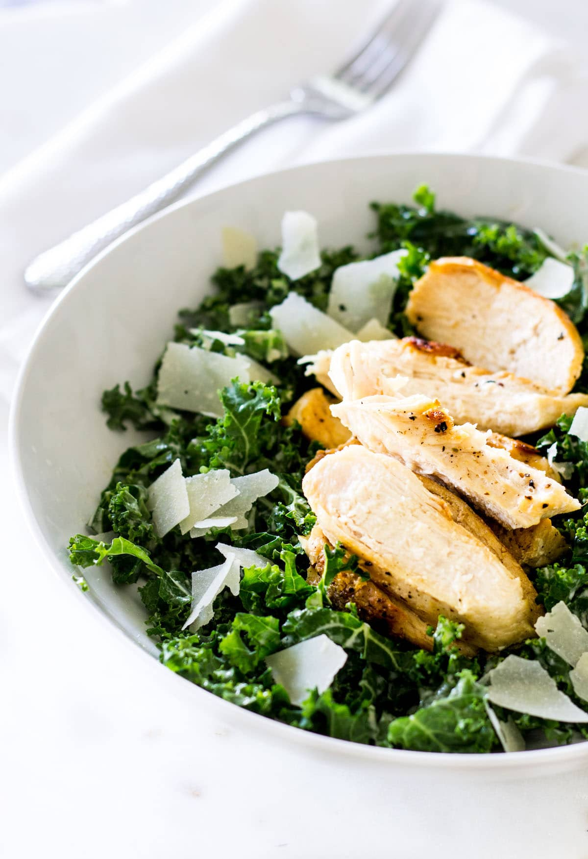 Kale Caesar Salad portrait shot