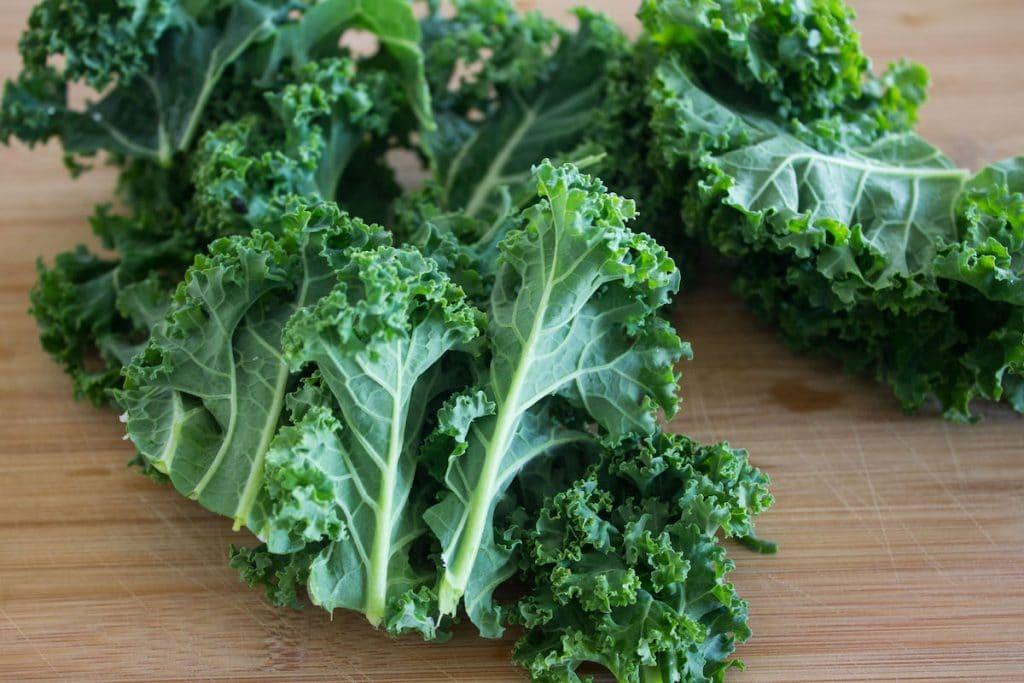 Kale Caesar Salad kale leaves
