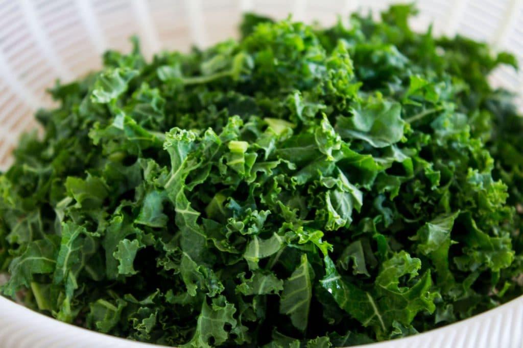 kale caesar salad chopped kale