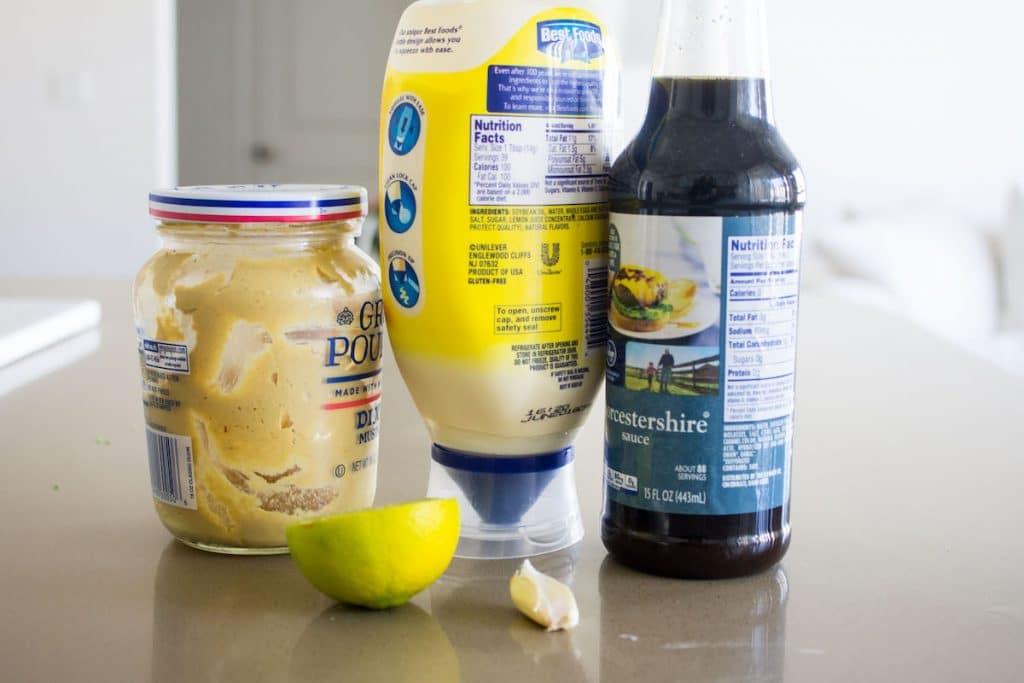 kale caesar salad ingredients for dressing