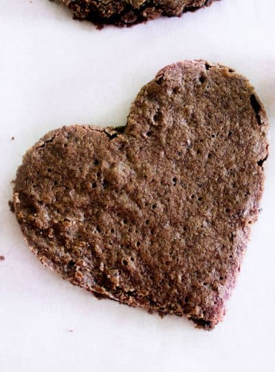Heart-Shaped Brownies (One-Bowl Recipe)