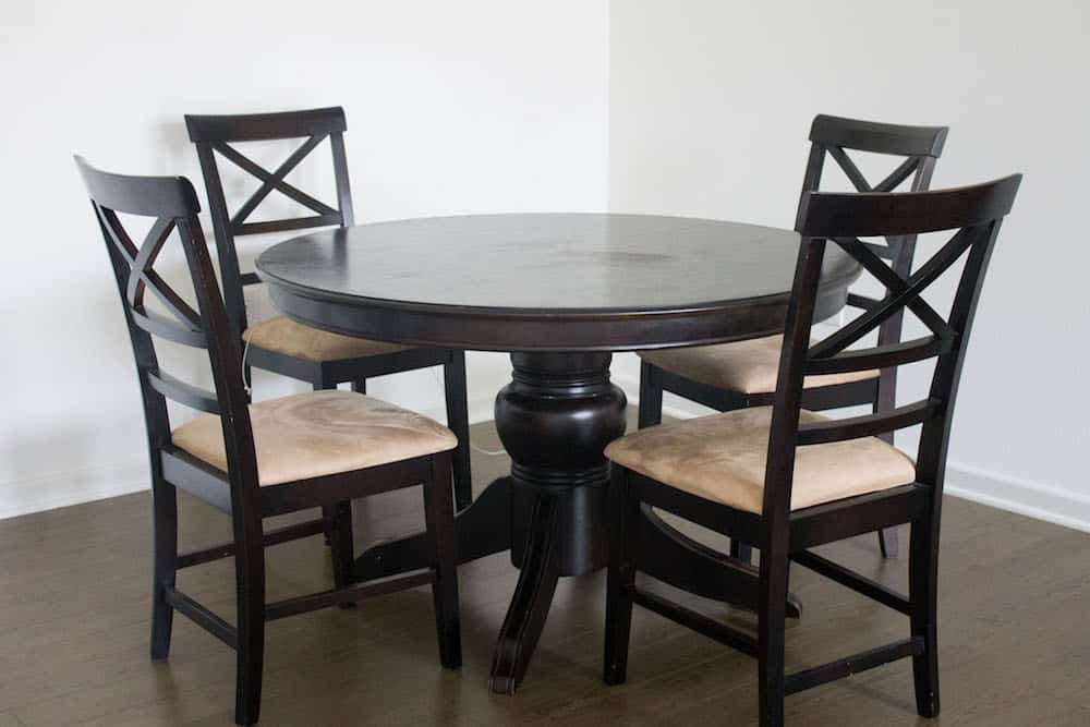How to Strip Paint Off Wood black dining table