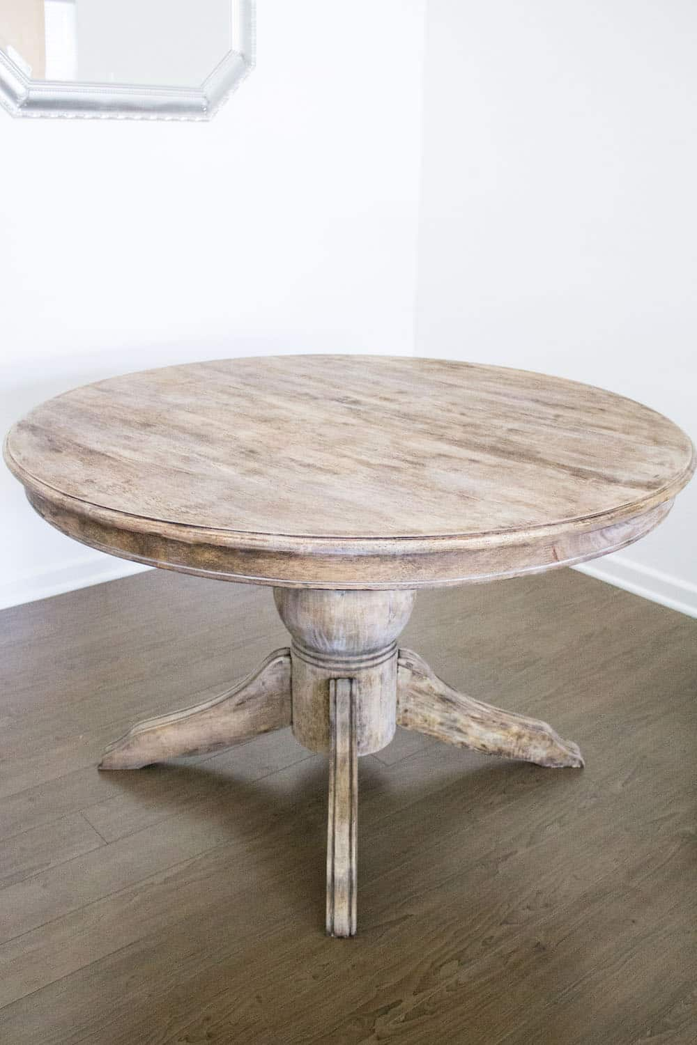 How to Strip Paint Off Wood French Style Dining Table weathered look