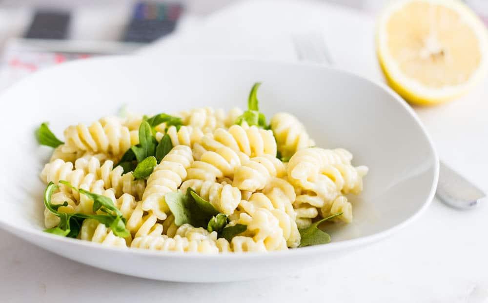 Lemon Cream Sauce Pasta