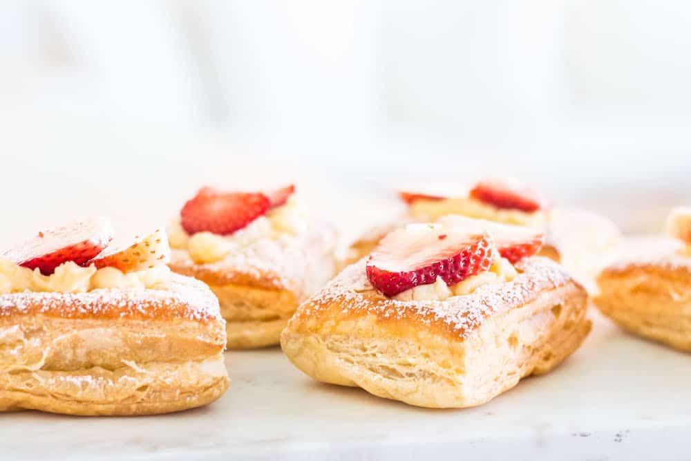 Strawberry Croissants (Cream Pan Copy-Cat Recipe)