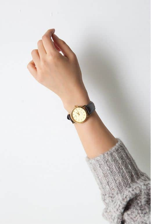 brown leather band watch
