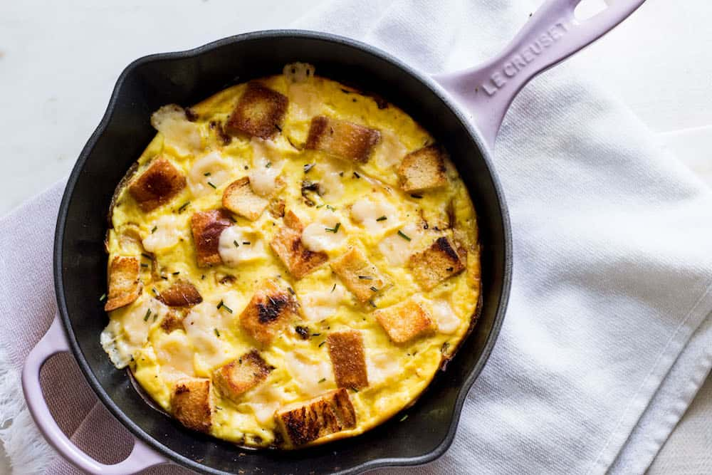 Baked Frittata with Onions (French Onion Frittata)