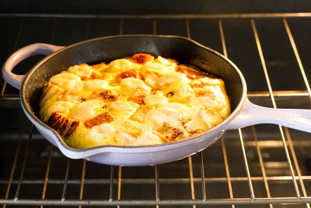 baked frittata in oven