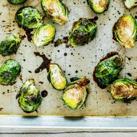 Roasted Brussels Sprouts with Balsamic Vinegar