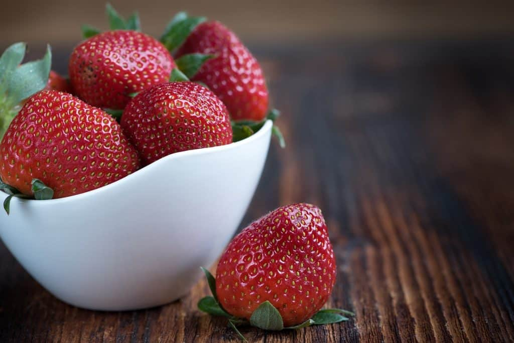 fresh strawberries for french crepes