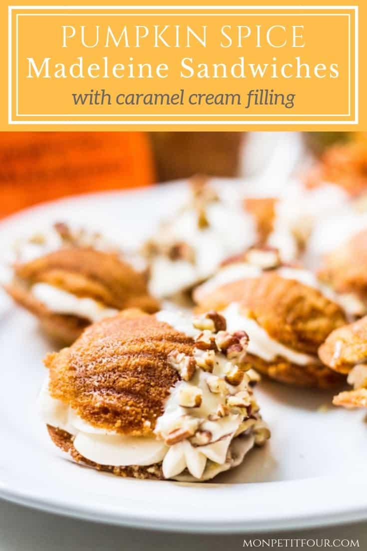 Madeleines Dessert with Donsuemor Pumpkin Spice Madeleines and Caramel Cream Filling #ad