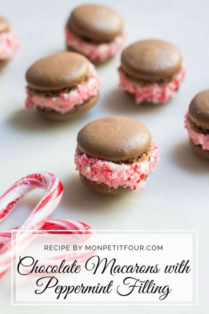 Chocolate Macarons Recipe with Peppermint Filling