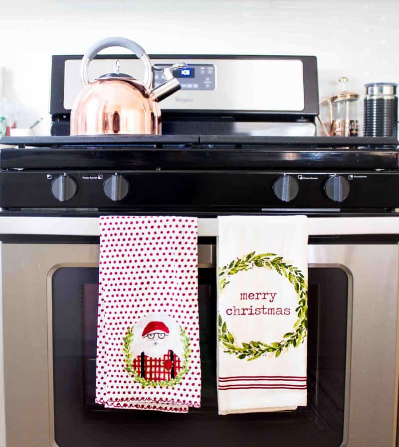 christmas kitchen towels from target