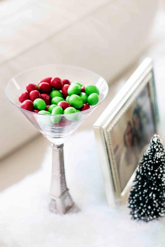 red and green christmas m&ms