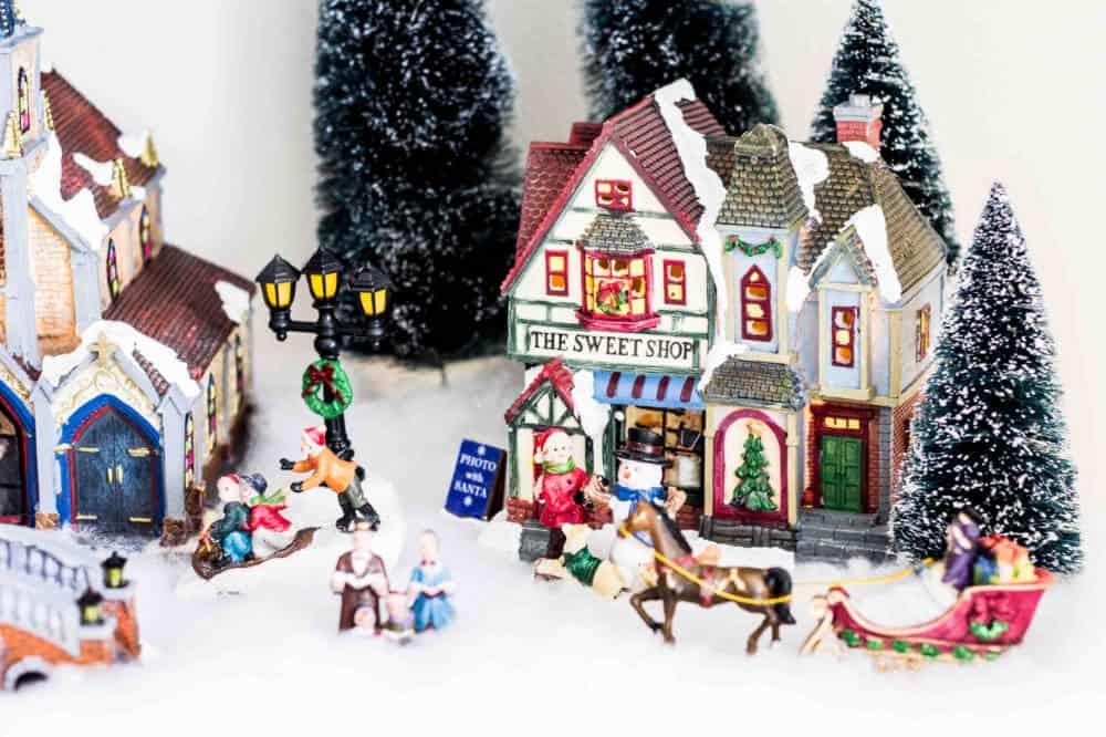 christmas village sweet shop