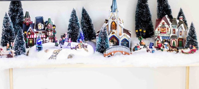 christmas village from bed bath beyond