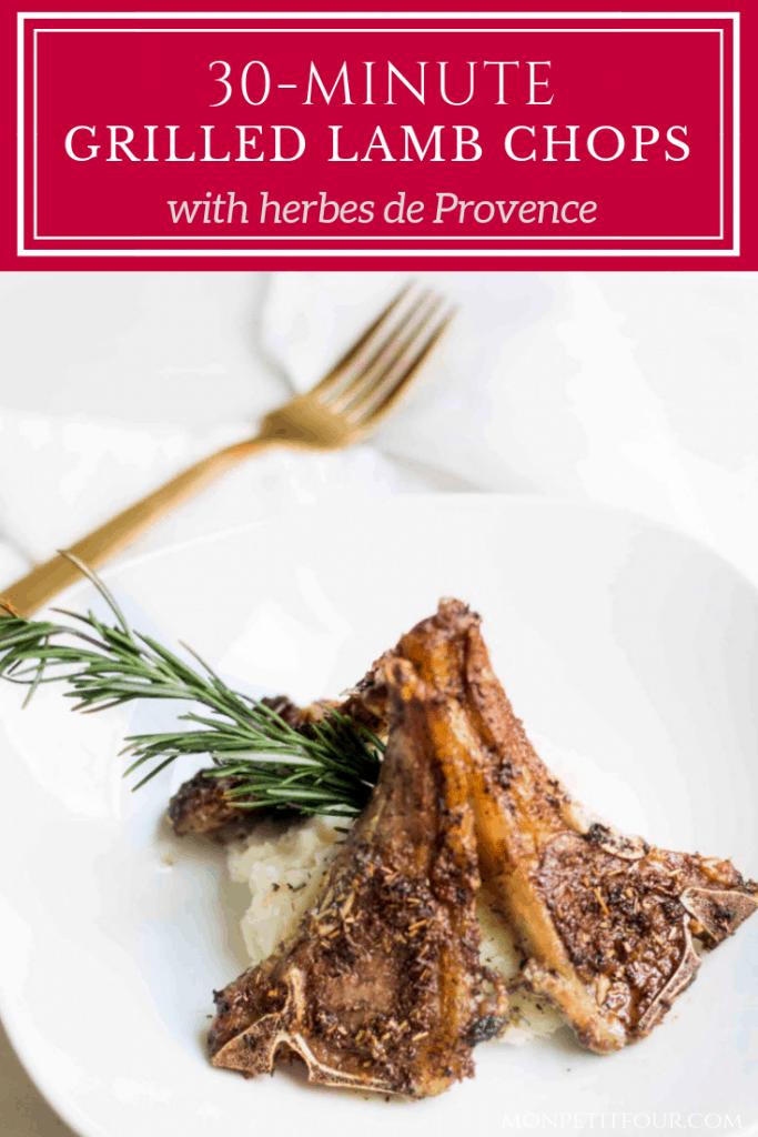 Lamb Chops Recipe with Herbes de Provence made in 30 minutes! Recipe via MonPetitFour.com