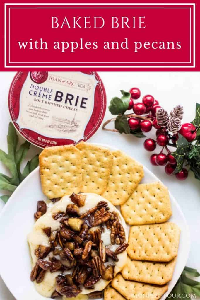 Baked Brie Recipe with Apples and Pecans via MonPetitFour.com #ad #JoanofArcBrie @BrieFabulous