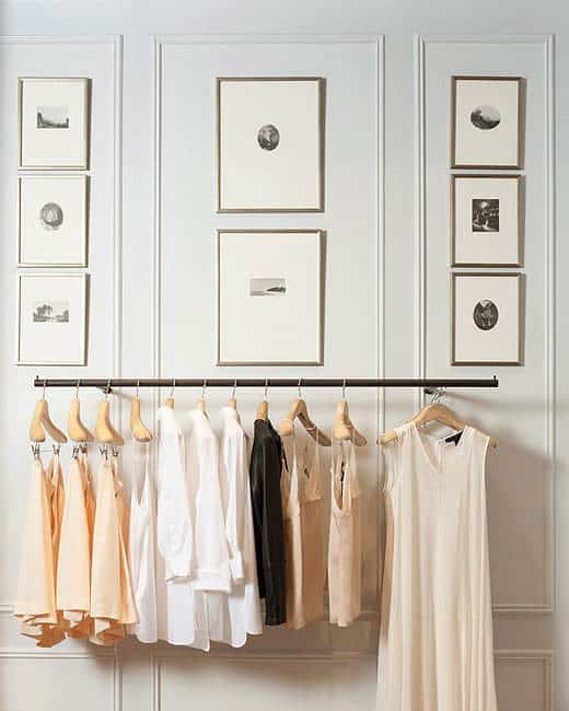 French Lifestyle Tip: organized closet with basic wardrobe pieces